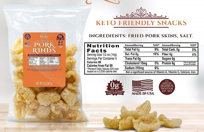 Keto Friendly Pork Rinds Proudly Pure Diet Snack
