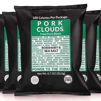 Pork Clouds Pork Rinds keto friendly options