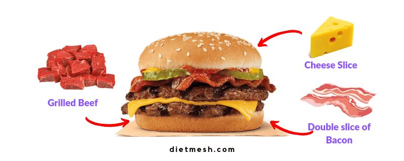 Customised Keto friendly Burger at Burger king
